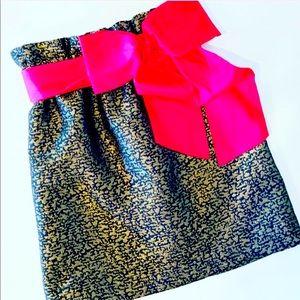 LaRoque skirt in metallic print (lined )